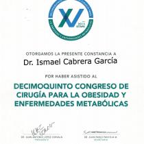 Dr. Ismael Cabrera Garcia – Decimoquinto Congress De Cirugia