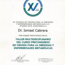 Dr. Ismael Cabrera Garcia – El Colegio De Cirugia Taller Multidisciplinario