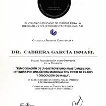Dr. Ismael Cabrera Garcia – El Colegio Mexicano De Cirugia Para LA Obesidad Y Enfermedades Metabolicas