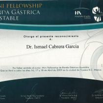 Dr. Ismael Cabrera Garcia – Mini Fellowship Banda Gastrica Ajustable