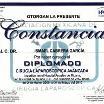 Dr. Ismael Cabrera Garcia – Otorgan La Presente Constancia – Diplomado