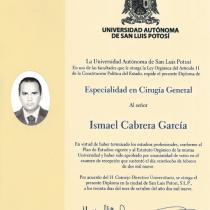 Dr. Ismael Cabrera Garcia – Universidad Autonoma De San Luis Potosi