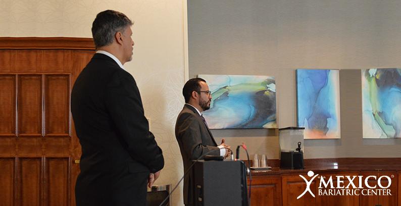 ron elli and dr ismael cabrera speaking atlanta georgia bariatric surgery seminar 2018 - mexico bariatric center